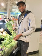 Ansted with stalk ofBrussel Sprouts in Meijer